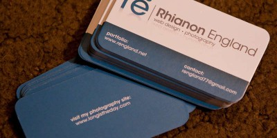 Rhianon England Business Cards