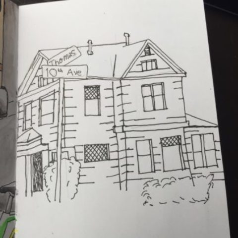 House drawing WIP