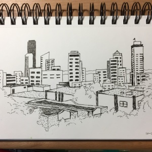 Seattle Skyline Sketch